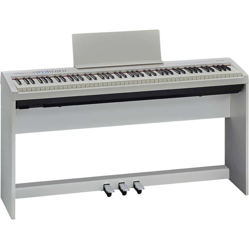Roland fp30 wh digital piano including stand and 3 pedal for Yamaha piano pedal unit