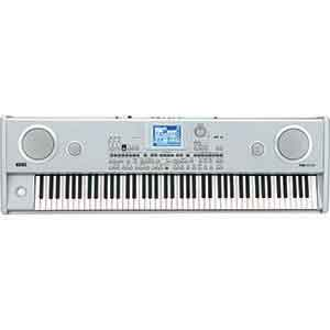 Korg Pre-Owned PA588 Arranger Piano in Silver