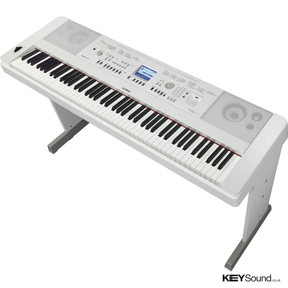 Yamaha dgx650 wh digital stage piano keysound piano for White yamaha piano