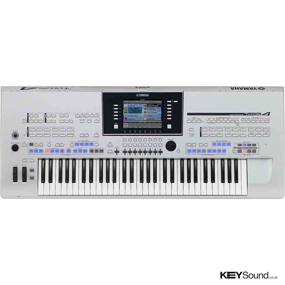 used yamaha tyros 4 xl keyboard includes trs ms04 speakers. Black Bedroom Furniture Sets. Home Design Ideas