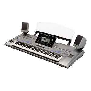 Yamaha Tyros5 XL 61 Keys Arranger Workstation includes MS05 Speakers in Silver