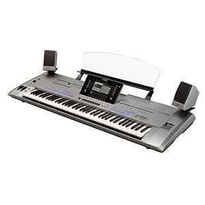 Yamaha Pre-Owned Tyros5 XL 76 Keys Arranger Workstation includes MS05 Speakers in Silver